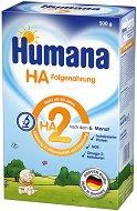 Хипоалергенно мляко за кърмачета: Humana HA 2 - Опаковка от 500 g за бебета над 6 месеца -