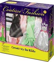 """Декорирай сама рокли за кукли - Творчески комплект от серията """"Creativity for Kids"""" - играчка"""