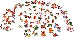 Стикери от EVA пяна - Работилницата на дядо Коледа - Комплект от 100 броя