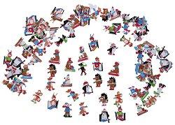 Стикери от EVA пяна - Зимна веселба - Комплект от 100 броя