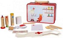 Детско лекарско куфарче - Комплект с инструменти от дърво - играчка