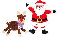 Направи сам - Коледни герои - Комплект от 6 броя - фигура