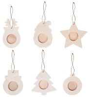 Коледни играчки - Рамки за снимки - Комплект от 6 броя за декориране