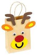 Направи сам пликче за подарък - Коледно еленче - Творчески комплект - хартиен модел