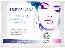 Natracare Cleansing Make-Up Removal - Мокри кърпички за почистване на грим с био етерични масла в опаковка от 20 броя - продукт