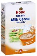 Инстантна био млечна каша - Мляко и просо - Опаковка от 250 g за бебета над 4 месеца - пюре