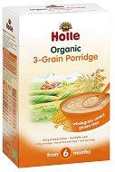 Инстантна био безмлечна каша - 3 вида зърна - Опаковка от 250 g за бебета над 6 месеца - продукт