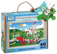 Детски еко пъзел - Рицарите и замъкът - В кутия с дръжка и книжка на английски език - пъзел