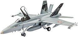 Военен самолет - F/A-18C Hornet Swiss Air Force - Сглобяем авиомодел - макет
