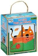 Еко кубчета - Домашни животни - Комплект с книжка на английски език -
