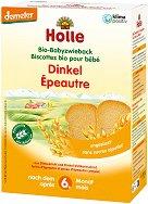 Holle - Бебешки био сухари от спелта - Опаковка от 200 g за бебета над 6 месеца - залъгалка