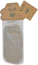 Ръкавица за баня от бамбук и лен - масло