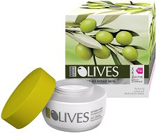 """Nature of Agiva Olives Mediterranean Day Cream - Дневен крем против бръчки за нормална към смесена кожа от серията """"Olives Mediterranean"""" - душ гел"""