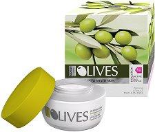 """Nature of Agiva Olives Mediterranean Day Cream - Дневен крем против бръчки за нормална към смесена кожа от серията """"Olives"""" - серум"""