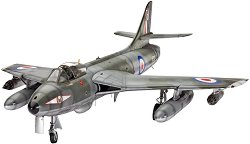 Военен самолет - Hawker Hunter FGA.9/Mk.58 - Сглобяем авиомодел - макет