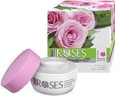 """Nature of Agiva Roses Day Cream - Хидратиращ дневен крем за нормална към смесена кожа от серията """"Roses"""" - фон дьо тен"""