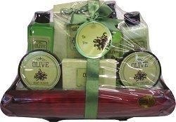Olive No.04 - Подаръчен козметичен комплект за тяло с масло от маслина - продукт