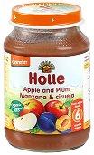 Пюре от био ябълки и сливи - Бурканче от 190 g за бебета над 6 месеца - продукт