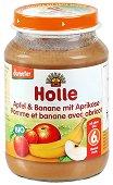 Пюре от био ябълки, банани и кайсии - Бурканче от 190 g за бебета над 6 месеца - продукт