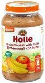 Пюре от био плодове и мюсли - Бурканче от 220 g за бебета над 8 месеца - залъгалка