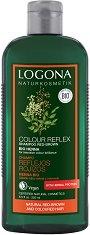 Logona Colour Reflex Shampoo Red-Brown Bio Henna - Шампоан с био къна за естествена или боядисана червенo-кестенява коса - балсам
