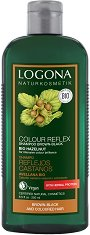 Logona Colour Reflex Shampoo Brown-Black Bio Hazelnut - Шампоан за кестеняво-черна коса с био лешник -