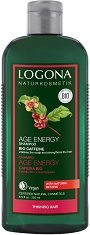 Logona Age Energy Shampoo Bio Caffeine - Възстановяващ шампоан с био кофеин и годжи бери - продукт