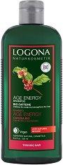 Logona Age Energy Shampoo Bio Caffeine - Възстановяващ шампоан с био кофеин и годжи бери -