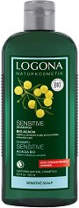 Logona Sensitive Shampoo Bio Acacia - Шампоан за чувствителен скалп с био акациев мед - балсам