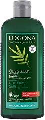 Logona Silk & Sleek Shampoo Bamboo - Шампоан за обем и блясък с бамбук - балсам