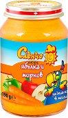 Слънчо - Пюре от ябълка и морков - Бурканче от 190 g за бебета над 4 месеца - продукт