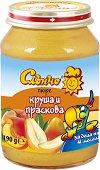 Слънчо - Пюре от круша и праскова - продукт