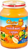 Слънчо - Пюре от плодов микс с круши - Бурканче от 190 g за бебета над 4 месеца - продукт