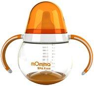 Оранжева неразливаща се преходна чаша с дръжки - 250 ml -