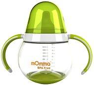 Зелена неразливаща се преходна чаша с дръжки - 250 ml -