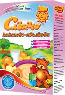 Инстантна млечна каша - Кайсии и ябълки - Опаковка от 200 g за бебета над 4 месеца - чаша