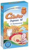 Инстантна млечна каша - Зърнин М - Опаковка от 200 g за бебета над 4 месеца - продукт