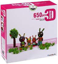 Направи сам зайчета - Детски еко конструктор - играчка