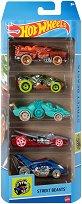 Hot Wheels - Street Beasts - Комплект от 5 метални колички - количка