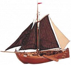 Риболовна лодка - Zuiderzee Botter - Сглобяем модел от дърво -