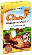 Инстантна млечна каша - Пшеница с какао - Опаковка от 200 g за бебета над 8 месеца - пюре