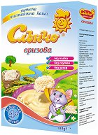 Слънчо - Инстантна безмлечна каша с ориз - Опаковка от 180 g за бебета над 4 месеца - пюре
