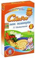 Инстантна млечна зеленчукова каша - Пет зеленчука - Опаковка от 200 g за бебета над 6 месеца - продукт