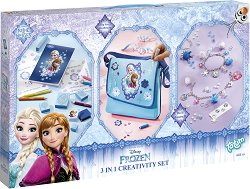 """Създай сама гривни и декорирай чанта и печати - Творчески комплект от серията """"Замръзналото кралство"""" - творчески комплект"""