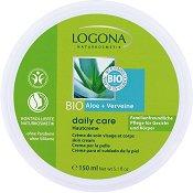 """Logona Daily Care Bio Aloe & Verveine Cream - Крем за лице и тяло с алое вера и върбинка от серията """"Daily Care"""" -"""