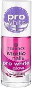 """Избелващ лак за нокти - Pro White Glow - От серията """"Essence Studio Nails"""" -"""