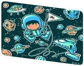 """Допълнителни плаки - Astronaut - Комплект от 4 броя за детска нощна лампа от серията """"Creative"""" - играчка"""
