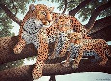 Нарисувай сам картина - Леопард с малките си - несесер