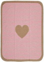 """Бебешко одеяло - Сърце - Размер 70 x 90 cm от серия """"Juwel"""" - продукт"""