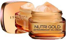 L'Oreal Nutri-Gold Extraordinary Oil Cream - Подхранващ дневен крем с антиейдж ефект - червило